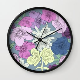 Brontes Lenten Rose Wall Clock