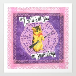 I will kill you in your sleep handcut collage Art Print