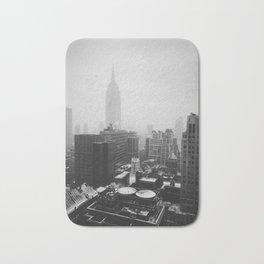 Foggy New York City Bath Mat