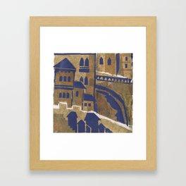 Medieval town-2 Framed Art Print