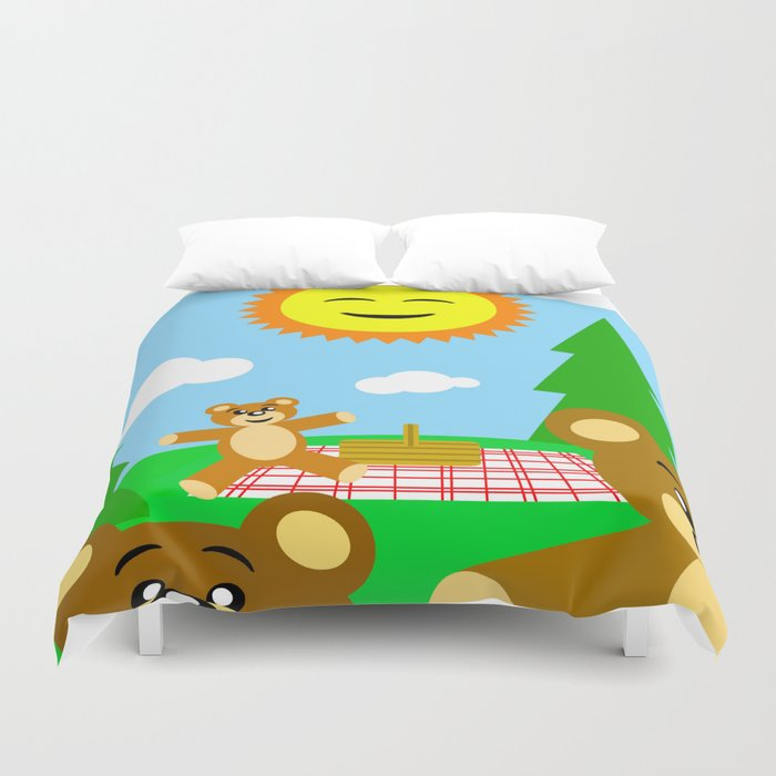 Teddy Bear Picnic Duvet Cover