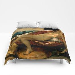 """Eugène Delacroix """"Woman with a Parrot"""" Comforters"""