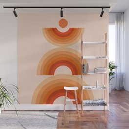 Abstraction_SUN_Rainbow_Minimalism_008 Wall Mural