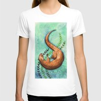 otter T-shirts featuring Otter by Georgia Roberts