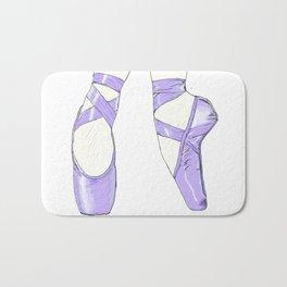 Ballet Pumps: Purple Bath Mat