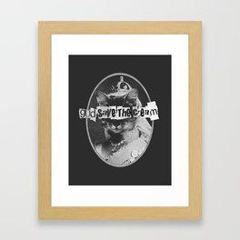 Never Mind The Furballs! Framed Art Print