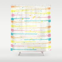confetti Shower Curtains featuring Confetti by Tammy Kushnir