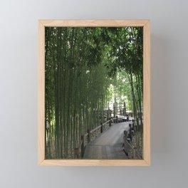 Bamboo bridge Framed Mini Art Print