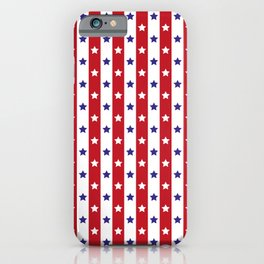 Stars and Stripes | Red White and Blue Pattern | iPhone Case