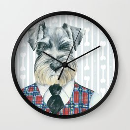 Schnauzer Mc Doogall Wall Clock