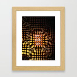 You're electric babe Framed Art Print