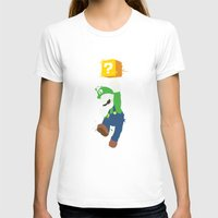 luigi T-shirts featuring Luigi Paint by The Daily Robot