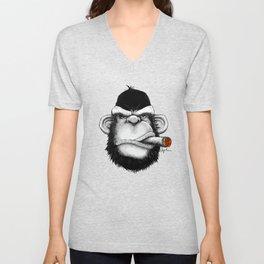 Cigar Monkey Unisex V-Neck