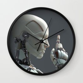 robot communicate with people Wall Clock