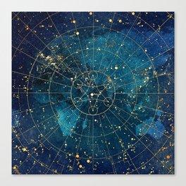 Star Map :: City Lights Canvas Print