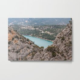 Blue mountain lake in France Metal Print