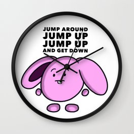 Jump around Wall Clock