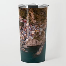 Aerial above Cinque Terre, Italy Travel Mug