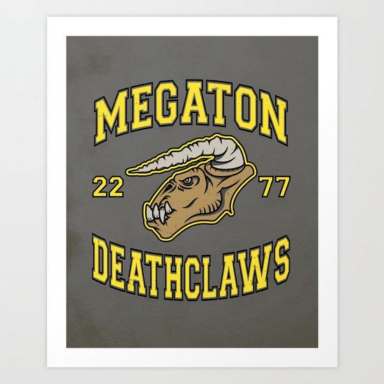 Megaton Deathclaws Art Print
