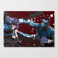 mike tyson Canvas Prints featuring Tyson  by SABIRO DESIGN