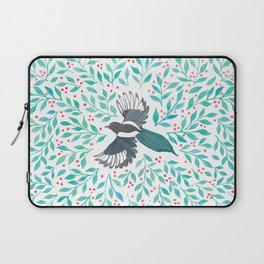 Magpie and Berry Branches Laptop Sleeve