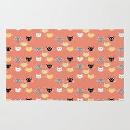 Kitties - Coral Rug