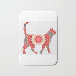 Spiral cat Bath Mat