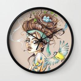 Birdbrain Wall Clock