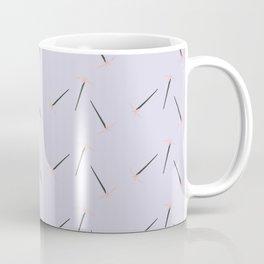 Minimalist Pixel Floral Lavender Pattern Coffee Mug