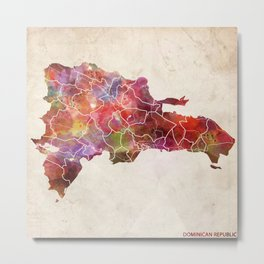 Dominican Republic map Metal Print
