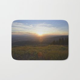 Lucky Peak Sunset Bath Mat
