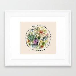 Succulents Mandala Framed Art Print