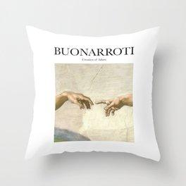 Buonarroti - Creation of Adam Throw Pillow