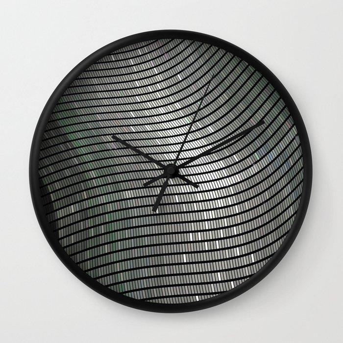 Silver 2 Wall Clock