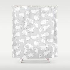Charity fundraiser - Grey Goats Shower Curtain
