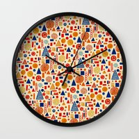 child Wall Clocks featuring Sunday's Child by Marcelo Romero
