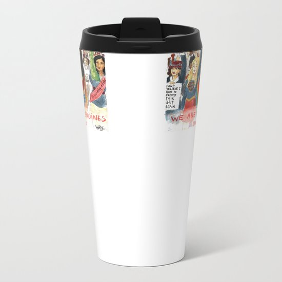 Women's March 2017 Metal Travel Mug