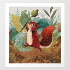 Perrin and the Poppy Pod Art Print