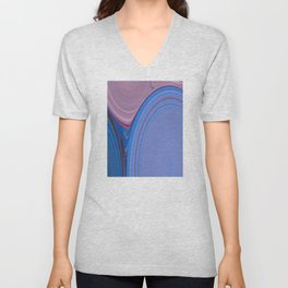 Abstract Creation by Robert S. Lee Unisex V-Neck
