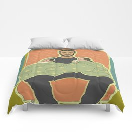 Father with Twins Comforters