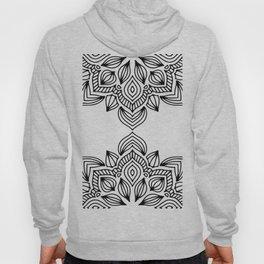 minimal black white mandala Hoody