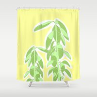 avocado Shower Curtains featuring Avocado by Maria Nordtveit