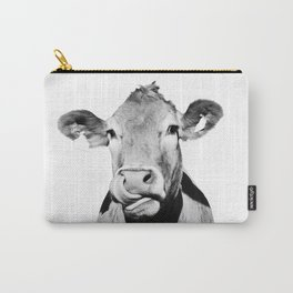 Cow photo - black and white Carry-All Pouch
