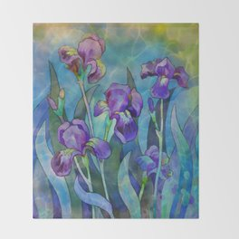 Fantasy Irises Throw Blanket