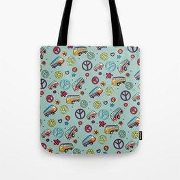 Retro  Hippie  Pattern 1 Tote Bag