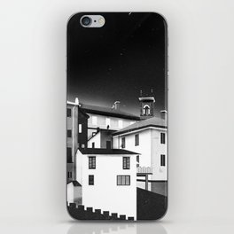 Castles at Night (B&W) iPhone Skin