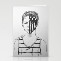 american beauty Stationery Cards featuring American Beauty/American Psycho by Katy Lawler
