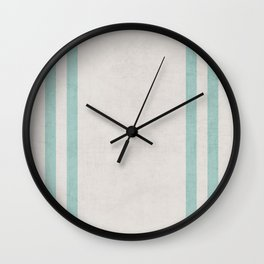 french linen - robins egg blue Wall Clock