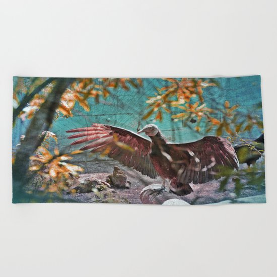 Vulture Rise of the Fire Wizard Beach Towel
