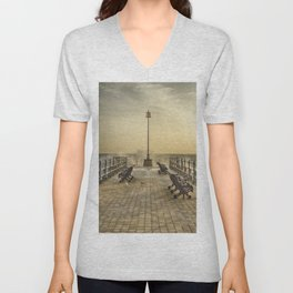 February Sunrise over Swanage Jetty Unisex V-Neck
